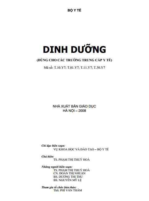 [PDF] Dinh dưỡng (NXB GIÁO DỤC)